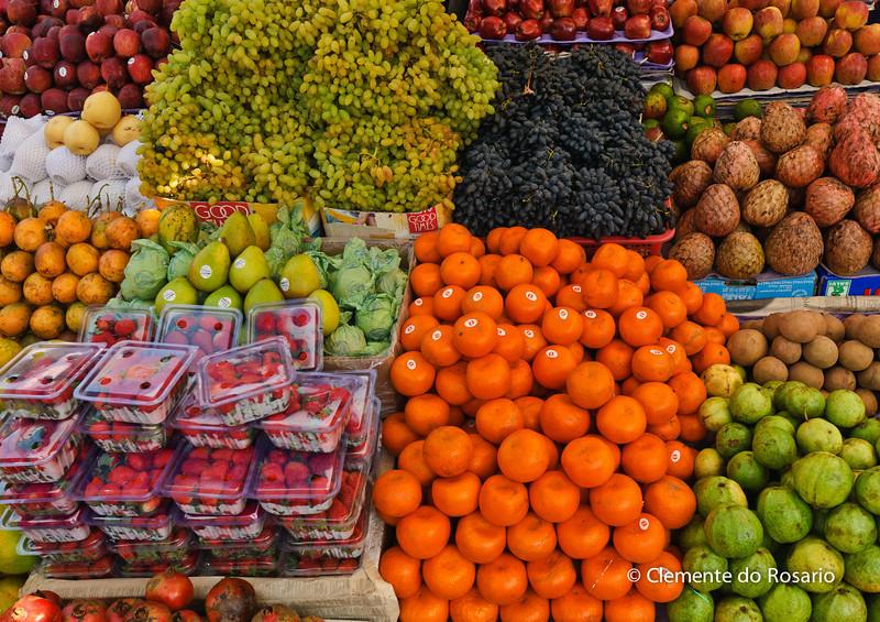 Fruits on sale at the Mupusa Friday Market, Goa, India