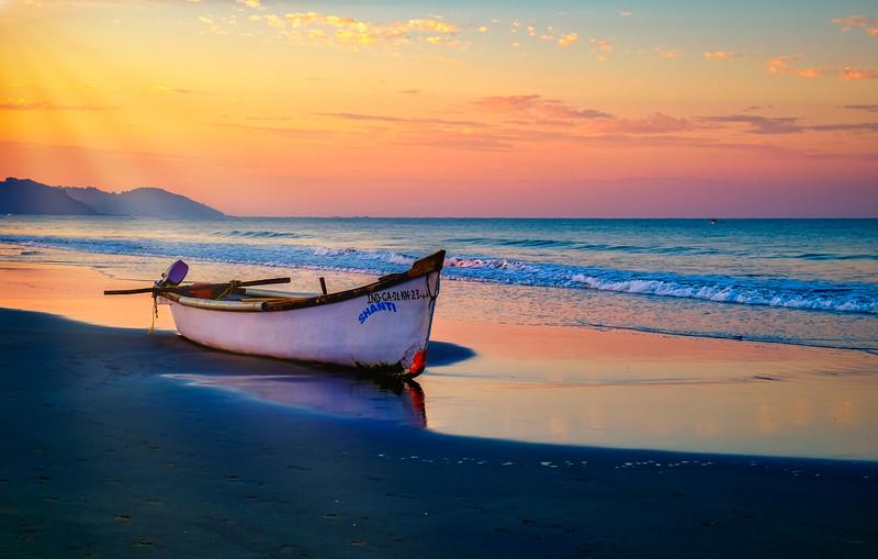 Sunrise at Morjim Beach,  North Goa, India