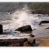 Crashing waves at  Cola Beach in Canacona, South Goa, India