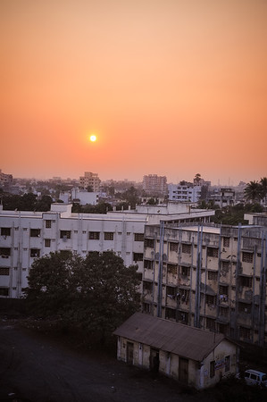 Sun setting on Navsari