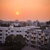 Sun setting on Navsari