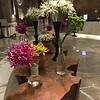 Lots of elegant flowers at JW Marriott Delhi