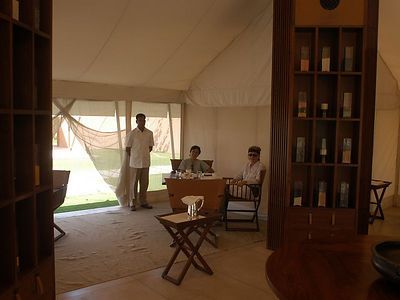 And this is the dining tent