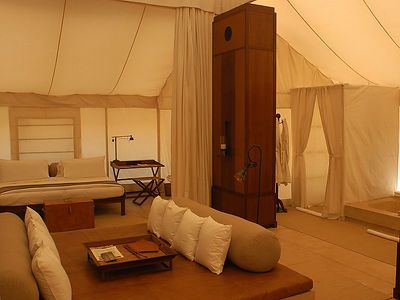 The interior of our tent