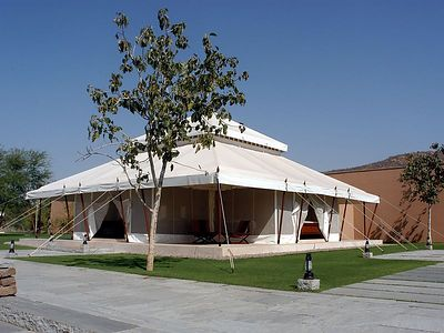 """This tent is the """"library"""""""