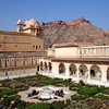 Formal gardens at the Amber Fort.