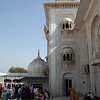Side view of Gurdwara Shri Bangla Sahib, a Sikh temple.