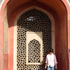 Kathy in a recess of Humayun's tomb.