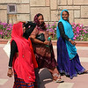 Indian ladies visiting the Rajghat in New Delhi