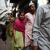 Father and daughter in shopping in Chandi Chowk, Old Delhi