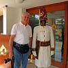 Mike Gore with the doorman at our hotel in Agra.