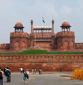 Red Fort as seen from the street.