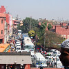 A view of Old Delhi's Chandi Chowk from the steps of the Jami Masjid Mosque