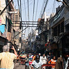 Electric and phone lines overhead in Chandi Chowk, Old Delhi