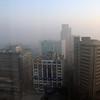 Morning smog in New Delhi