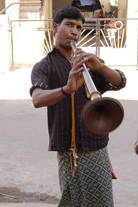 WE received a street serenade.  He received a few Rupies.