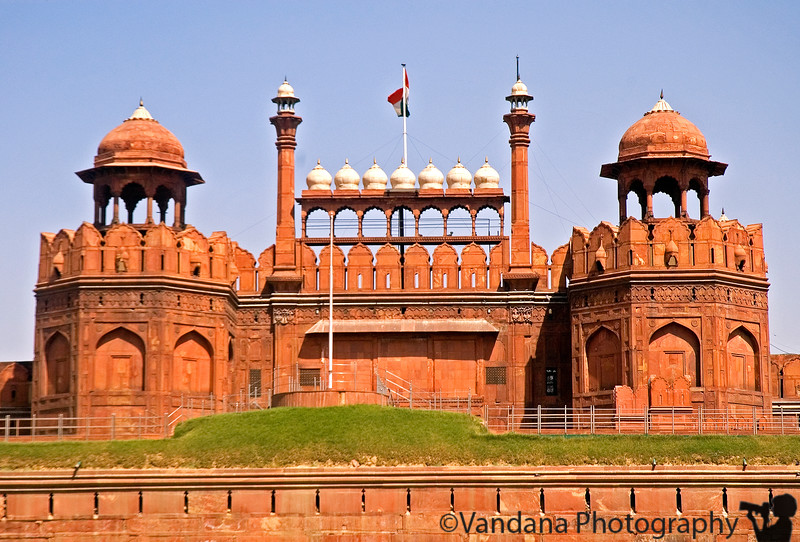 The Red Fort - also built by Shah Jahan shares the similar Mughal architecture. It is the location for the popular Republic day parade where India shows off among others its military strength.