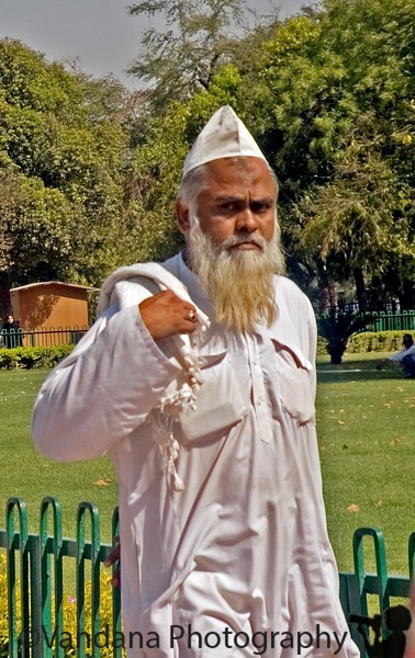 a Muslim Clergyman in Red Fort