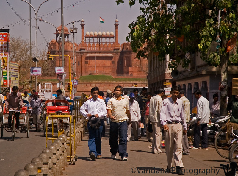 Out of Chandni Chowk towards Red Fort ( Lal Qila) in New Delhi