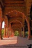 Pillars in Red Fort, similar to those in Qutb Minar - it was a long wait to get it a little empty !