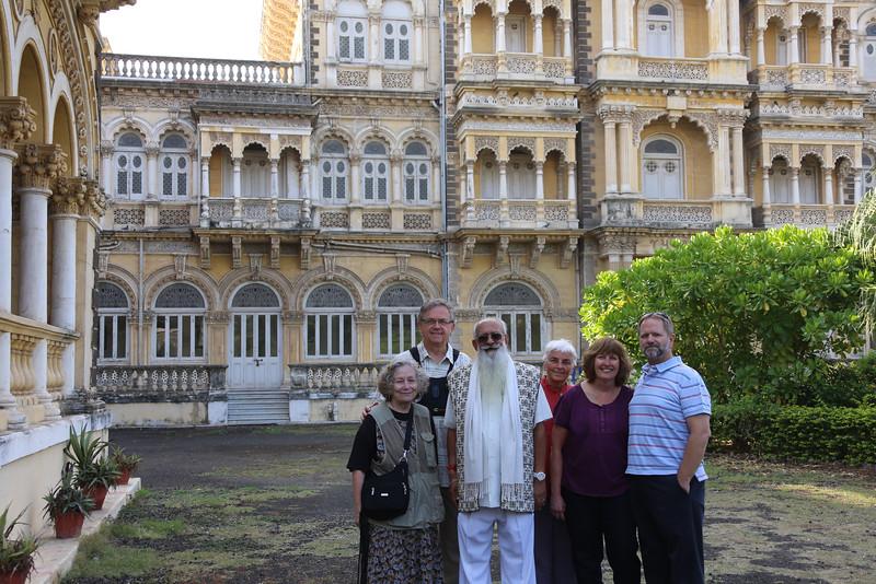 Janet Muff, Jim Boyce, Jamsaheb the Maharajah of Nowanagar, Delia, Karen & Jim Muff