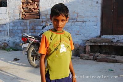 A boy posing in Jodhpur, Rajasthan, India.