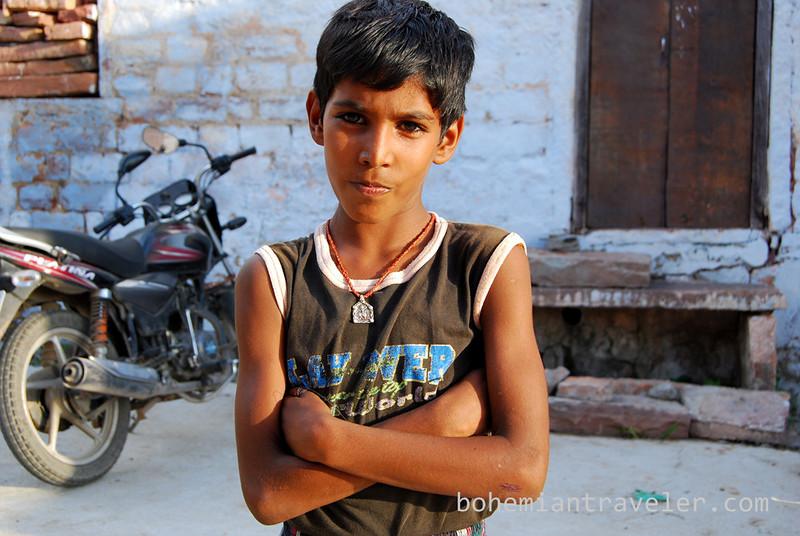 A boy poses in Jodhpur, Rajasthan, India.