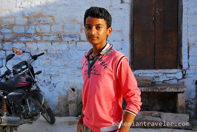A boy posing in Jodhpur, Rajasthan, India.