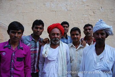 Portrait of Rajasthani men at the Fort in Jodhpur.