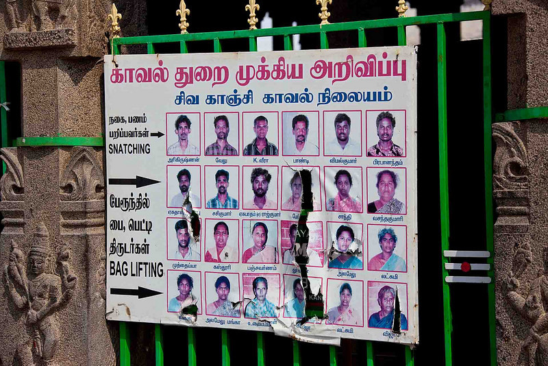 If you see any of these people, hold onto your wallet. Women appear to be equal opportunity thieves in Kanchipuram. That said, violent crime is a rarity.