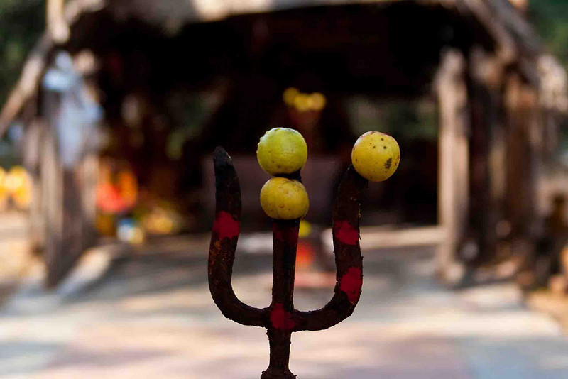 Shiva's trident at the Snake temple.