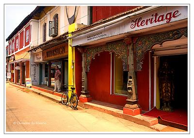 A street in Cochin, Kerala, India File Ref: Kerala-2006 034R