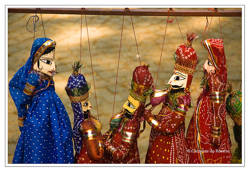 Rajasthani Dolls for sale at a local market in Cochin, Kerala, India.<br /> File Ref: Kerala-2006 12R