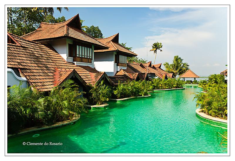 Kumarakom Lake Resort, luxurious hotel , on the shore Vembanad Lake at Kumarakom, Kerala, India<br /> File Ref: Kerala-2006 121R