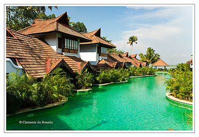 Kumarakom Lake Resort, luxurious hotel , on the shore Vembanad Lake at Kumarakom, Kerala, India File Ref: Kerala-2006 121R