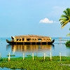 Kerala Houseboat, also known as Ketuvalloms, at Kumarakom Lake Resort, Kerala, India<br /> File Ref: Kerala-2006 116R 1514