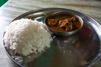 Bengali food - mutton curry