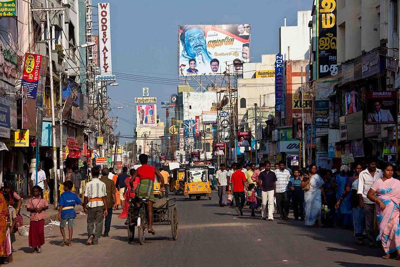 Beautiful downtown Madurai.