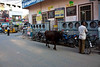 On the street adjacent to the temple, cows more or less have the rigght of way.