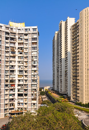 View from outside our room at the Regency in Mumbai