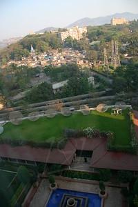 View from hotel room at the Renaissance Mumbai.