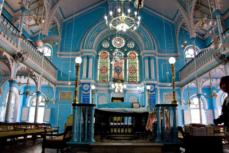 Interior of the Keneseth Eliyhoo Synagogue, now 126 years old.
