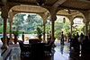 Swimming pool and outdoor bar/patio at the old Taj Mahal Hotel