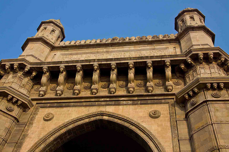 """""""Gateway of India"""" commemorating the 1911 visit of King George V. Completed in 1924."""