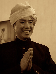 Vince: acting the Raj with a slightly Buddhist influence