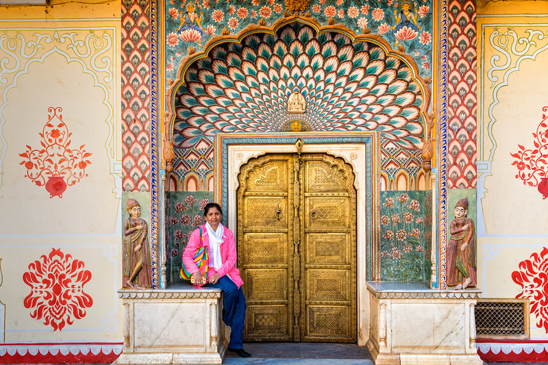 The Lotus Gate at Pritam Niwas Chowk in the City Palace