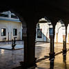 Courtyard Moti Chowk at the Raj Palace in Jaipur Rajasthan