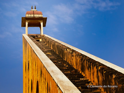 Stairs to the stars at Jantar Mantar, Jaipur, Rajasthan, India