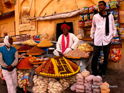 Street vendor in Amber Fort, Jaipur, Rajasthan, India