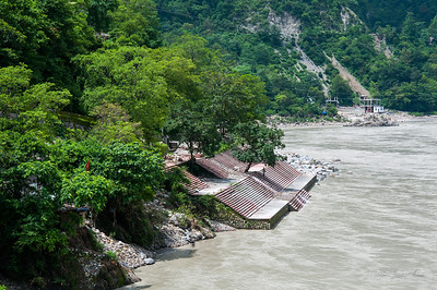 Ghat in the Ganges (Ganga) in Rishikesh